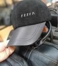 Mũ da lộn nam BH1981 Màu Đen phần nón được bọc da