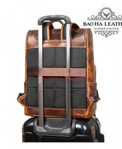 Balo nam đựng laptop 15.6inch cao cấp BHM7422 Da bò thật, nguyên miếng (7)