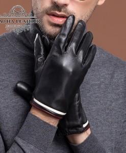 Găng tay da cừu lót lông - BHY8863 Size M L XL