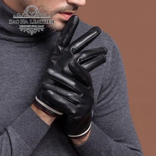 Găng tay da cừu lót lông - BHY8863 Size M L XL giúp bạn dễ dàng vừa tay, thật tay hơn