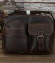 Túi nam đeo chéo da bò sáp thô nguyên miếng BHL120