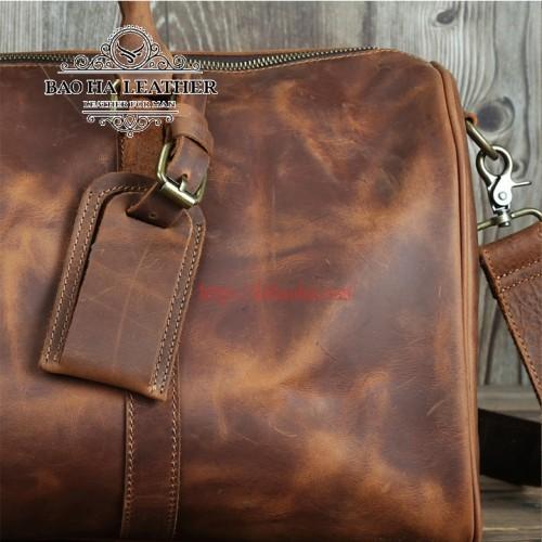 100% túi được làm từ da bò thật - nguyên tấm và sử dụng lớp da đầu tiên