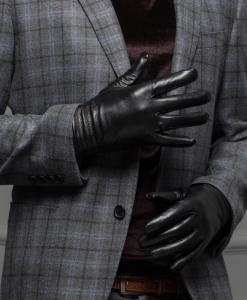 Găng tay nam da cừu BHY8617 Kiểu dáng đơn giản rất ôm tay