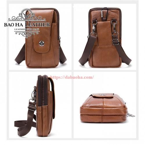 Túi da đeo hông - Túi đeo chéo nhỏ BHM7500 dưới mọ góc nhìn