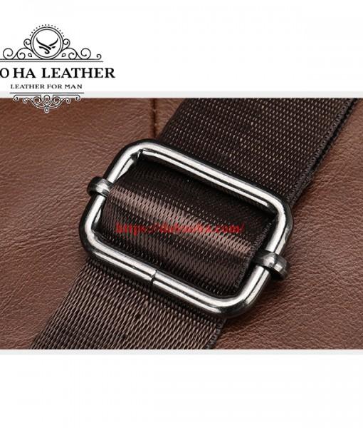 Túi đeo chéo Bao Ha Leather BHM7512C Màu Cà phê (10)