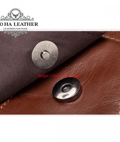 Túi đeo chéo Bao Ha Leather BHM7512C Màu Cà phê (14)