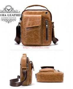 Túi đeo chéo Bao Ha Leather BHM7512N Màu Nâu sáng