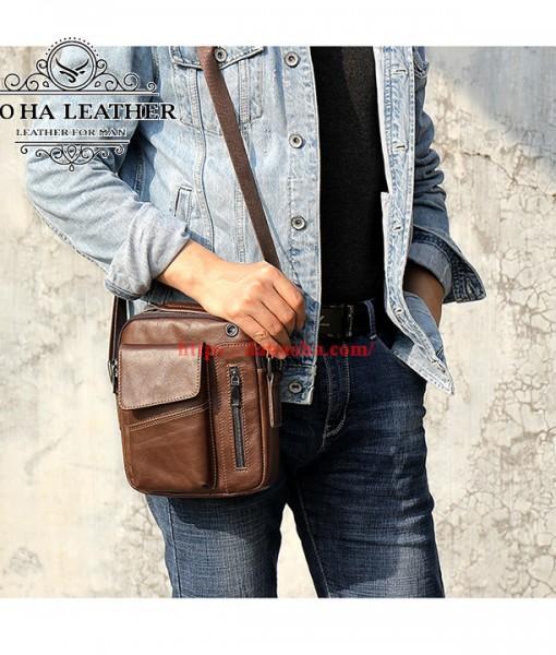 Túi đeo chéo Bao Ha Leather BHM7512C Màu Cà phê (5)