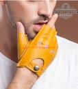 Găng tay hở ngón nam da cừu cao cấp BHY8853 Ôm kít, thật tay mà vẫn thoải mái