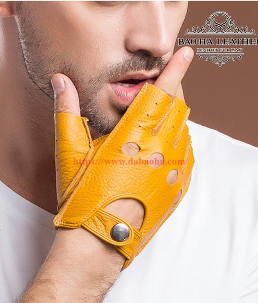 Găng tay hở ngón nam da cừu cao cấp BHY8853 (6)