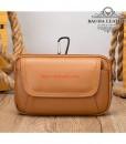 Túi đeo thắt lưng da bò thật BHM7539 Màu Nâu