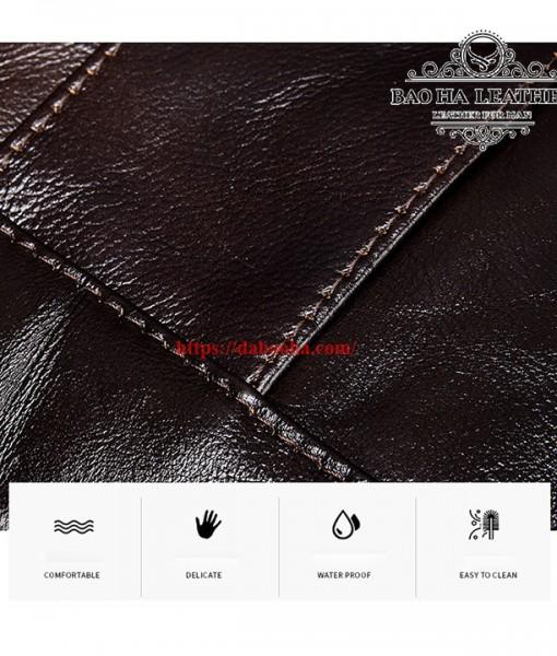 Túi được làm từ da bò thật