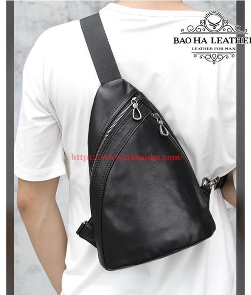 Túi nam đeo ngực da bò thật cao cấp BHM8036 (15)