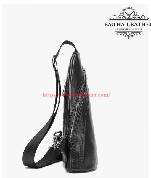 Túi nam đeo ngực da bò thật cao cấp BHM8036 (2)