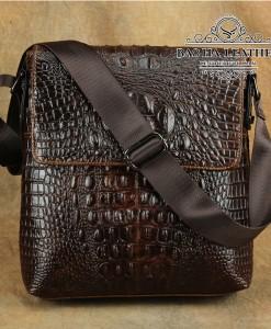 Túi đeo chéo vân cá sấu – BHLD144 Nâu cà phê