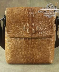 Túi đeo chéo vân cá sấu – BHLD144 Nâu vàng
